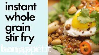 Carla Makes Instant Whole Grain Stir Fry | Bin It to Win It | Bon Appetit
