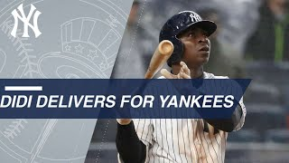Didi swats two HRs, plates eight, makes Yankees history