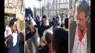 الجزائر.. الشرطة تستقبل العام الجديد بضرب أطباء محتجين     -