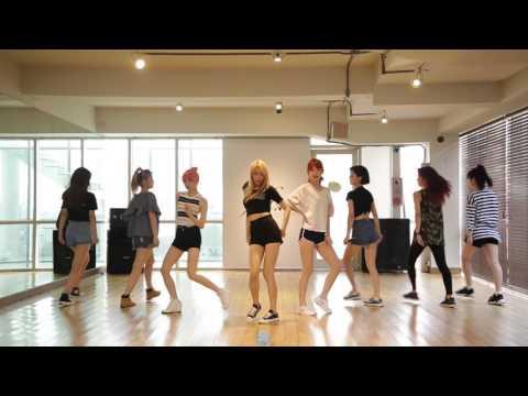 나인뮤지스 A[9MUSES A] - 입술에 입술(Lip 2 Lip) 안무 연습영상(Dance practice)