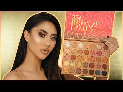 MORPHE 35G BRONZE GOALS PALETTE REVIEW....Tutorial & Swatches! | BrittanyBearMakeup