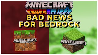 This Is Bad News For Minecraft Bedrock Edition | Minecraft 1.17 Update News & Information