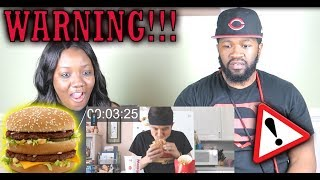 The FASTEST Grand Mac Meal Ever Eaten (under 1 Minute!!) | REACTION