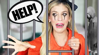 Daniel Trapped Us in Game Master Prison Escape Room! (24 Hour Challenge) | Rebecca Zamolo