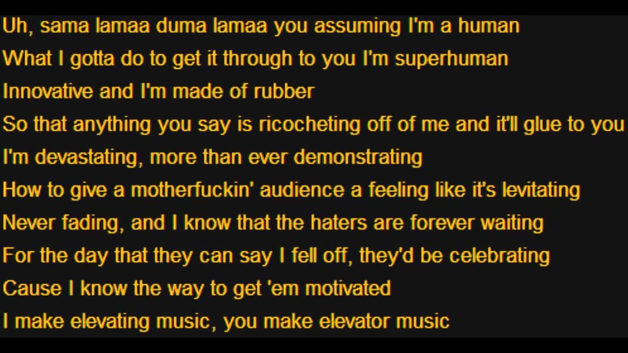eminem rap god 10min doubletime lyrics youtube. Black Bedroom Furniture Sets. Home Design Ideas
