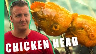 Eating CHICKEN HEAD in the Philippines!  [Best Ever Food Review Show]