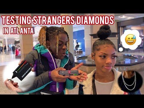 TESTING STRANGERS DIAMONDS😭💎 ATLANTA MALL EDITION | PUBLIC INTERVIEW