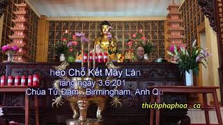 Theo Chỗ Kết Mây Lành   Thầy  Thích Pháp Hòa chùa Từ Đàm, Birmingham, Anh Quốc 3 6 2017