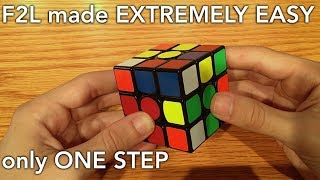 F2L made EXTREMELY EASY (only one step)