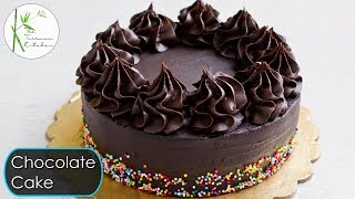 Eggless Chocolate Cake without Oven   Moist & Rich Chocolate Ganache Cake ~ The Terrace Kitchen