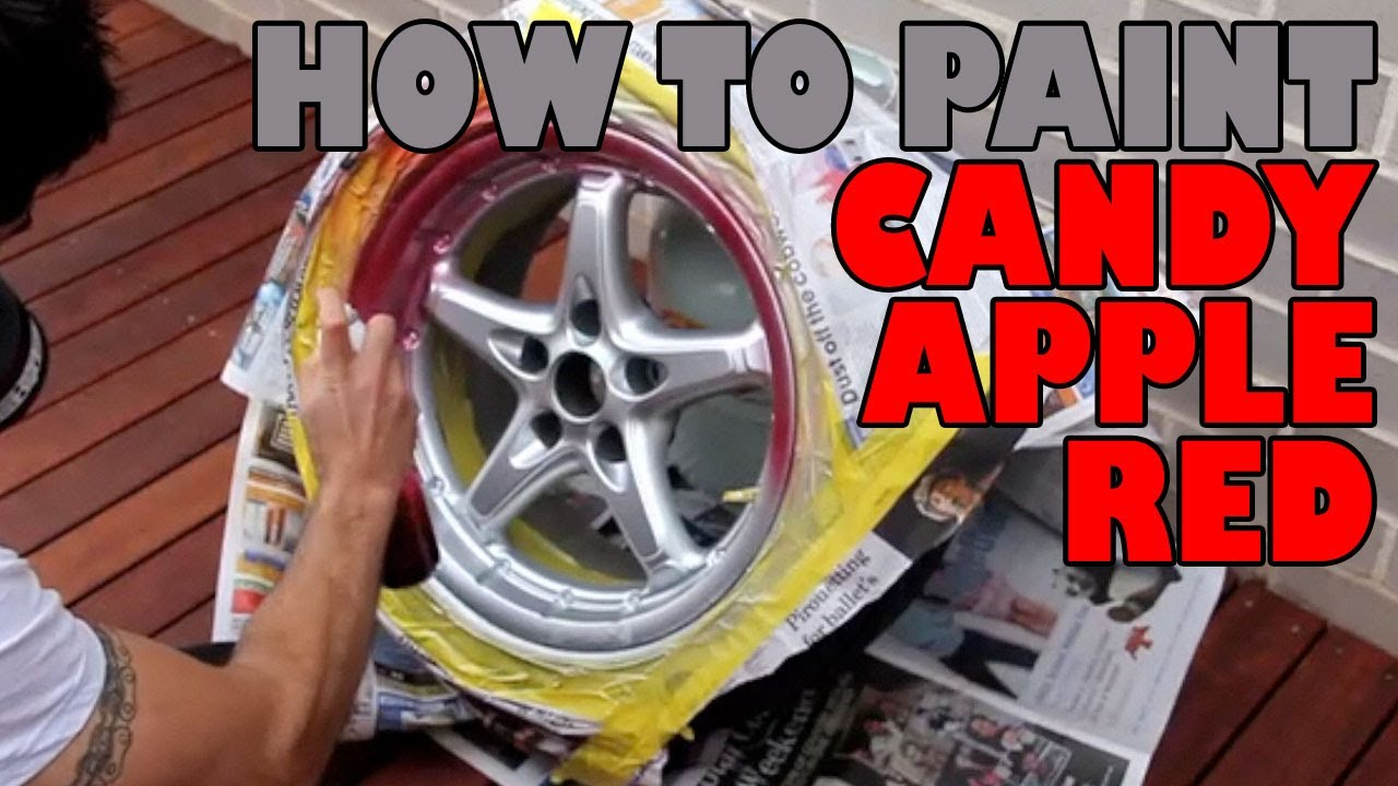 How To Paint Candy Apple Red Diy Youtube