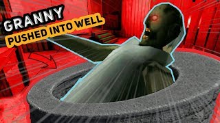 PUSHING GRANNY DOWN THE WELL!?!?! | Granny The Horror Mobile Game