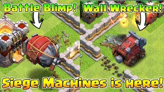 """Siege Workshop Gameplay : """"Wall Wrecker"""" AND """"Battle Blimp"""" 