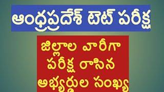 Andhra pradesh Tet exam|ap Tet exam candidates district wise|ap dsc notification vacancies district