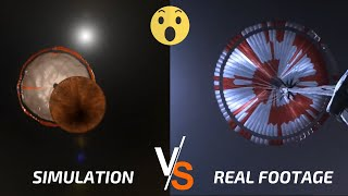 Perseverance Landing On Mars Video: Simulation vs Reality!