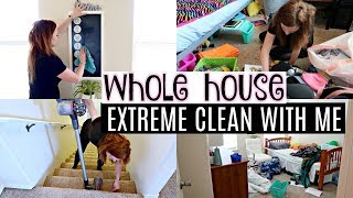 EXTREME WHOLE HOUSE CLEANING MOTIVATION | TIME LAPESE ALL DAY CLEAN WITH ME
