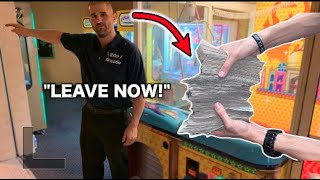 KICKED OUT for winning CASH from GIANT CLAW MACHINE!!