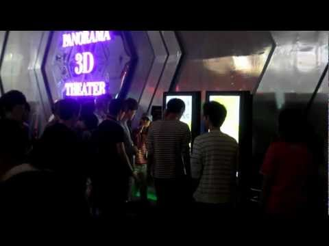 EXO at SM Exhibit going into 3D theater