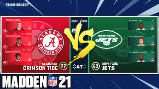 What if the Alabama Crimson Tide Played the Jets? Madden 21