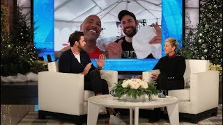 John Krasinski Had No Idea How to Use the Equipment in The Rock's Private Gym