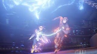 The Flash 5x01 Super Suit   Spolier Alert   Barry & Nora Speed XS