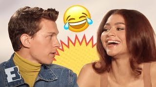 Tom Holland & Zendaya's Date Scenes Were Difficult to Shoot | 'Spider-Man: Far From Home' Interview