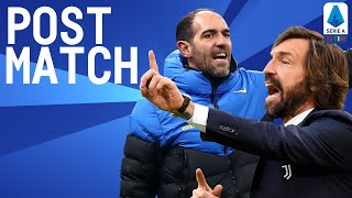 Juventus 3-2 Inter   Pirlo & Stellini Post Match Conference   Serie A TIM