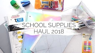 SCHOOL SUPPLIES HAUL 2018 [white + aesthetic] | Reese Regan