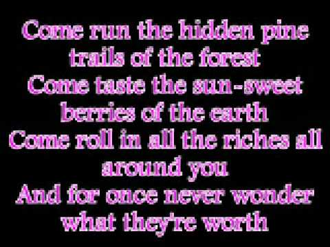 Vanessa Williams Colors of the wind with lyrics