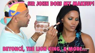 SIR JOHN DOES MY MAKEUP: TALKS BEYONCE & THE LION KING | MAKEUPSHAYLA