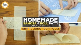 Homemade Samosa & Roll Patti With Folding Techniques By Food Fusion (Ramzan Special Recipes)