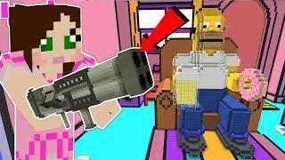 Minecraft: THE SIMPSONS LIVING ROOM!! - FORTNITE BATTLE ROYALE - Modded Mini-Game