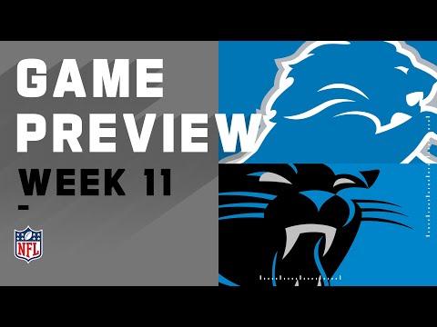 Detroit Lions vs. Carolina Panthers | NFL Week 11 Game Preview