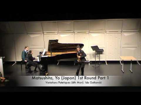 Matsushita, Yo (Japon) 1st Round Part 1