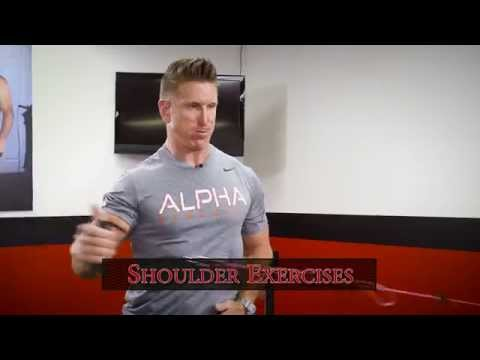 Wall mounted VersaPulley -- Shoulder Training featuring Paul Cater.