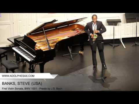 Dinant 2014 - BANKS Steven (First Violin Sonata, BWV 1001 - Presto by J.S. Bach)