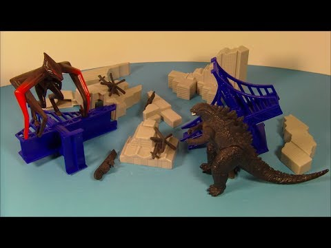 2014 GODZILLA DESTRUCTION CITY PLAY SET MOVIE TOY VIDEO REVIEW