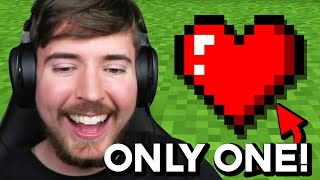 Minecraft, But With Only 1 Heart!