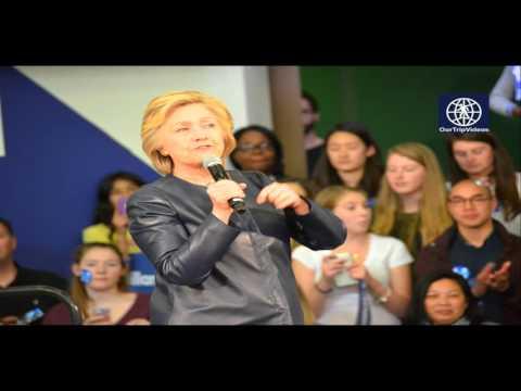 Pictures of Campaign visit of Hillary Clinton - La Escuelita School, Oakland, CA, USA