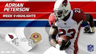Adrian Peterson's 157 Yards on Career-High 37 Carries! | Cardinals vs. 49ers | Wk 9 Player HLs
