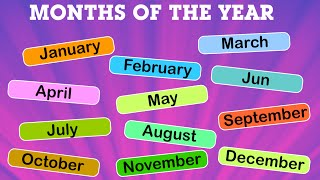 Months of The Year for Kids | Name of Months | Kindergarten | Periwinkle