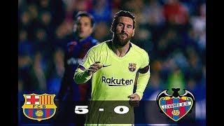 FCB vs LEV 5 - 0 | Goals & Highlights 2018 HD