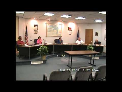 Rouses Point Village Board Meeting  8-18-08