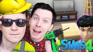 DREAM TEEN BEDROOM MAKEOVER - Dan and Phil Play: Sims 4 #53