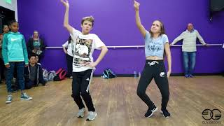 "Connor dancing with Jayden Bartels to ""Tip Toe"" by Jason Derulo and French Montana"