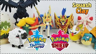 Pokémon Sword and Shield Clay Art!! (Satisfying video)