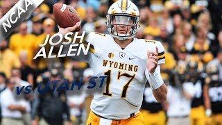 Josh Allen Highlights vs Utah State // 18/26 208 Yards, 2 Total TDs // 10.14.17