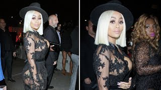 Blac Chyna Sizzles In Sexy Lace Ensemble Partying After Car Crash