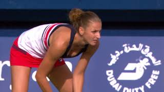 Highlights: WTA QFs - Muguruza d. Garcia