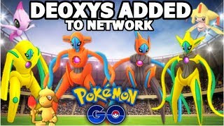 DEOXYS & ALL FORMS ADDED TO POKEMON GO | SHINY DEOXYS CELEBI JIRACHI & MORE! HYPE TIME!